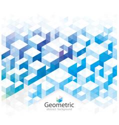 blue geometric vector image vector image