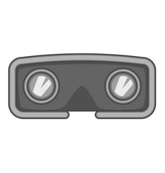 vr glasses icon monochrome vector image vector image