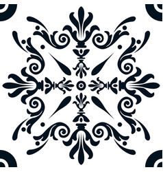 white tile with a pattern vector image