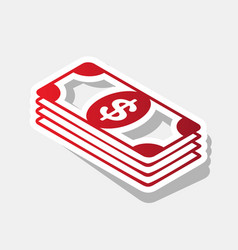 bank note dollar sign new year reddish vector image
