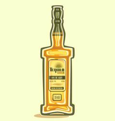 bottle of tequila vector image
