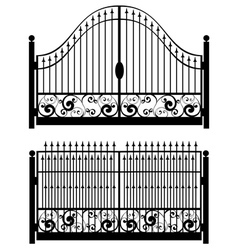 Iron gate silhouette2 vector