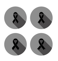 mourning sign icon with long shadow vector image