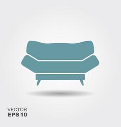 sofa flat icon vector image vector image