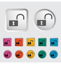 unlock icon vector image vector image