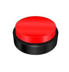 warning sign button vector image vector image