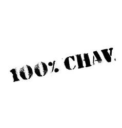 100 chav rubber stamp vector