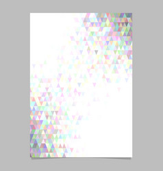 abstract polygonal brochure template design with vector image
