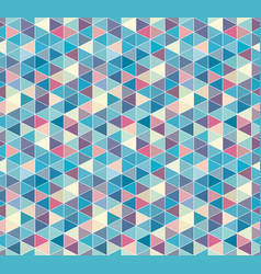 Abstract triangle seamless pattern isometric grid vector