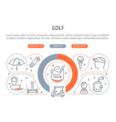 banner golf vector image