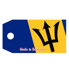 Barbados flag on price tag with vector