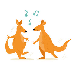 cheerful a couple dancing vector image