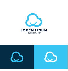 Cloud logo download vector
