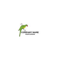 Cockatoo simple logo design vector