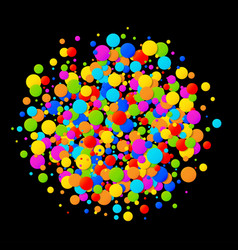 Colorful bright circle confetti round background vector