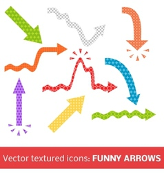 Colorful textured arrows set vector