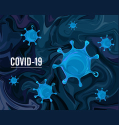 coronavirus covid19-2019 on a blue abstract vector image