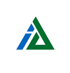 corporate letter a and i logo design triangle vect vector image