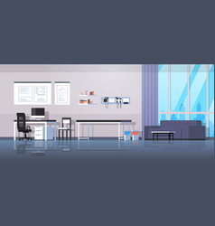 doctor office workplace room interior modern vector image