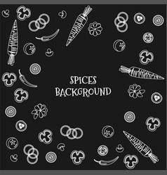 Doodle vegetables whit black background vector