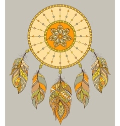 Dream catcher on gray background vector