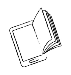 Ebook or book download icon image vector