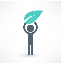 Eco man icon Logo design vector image