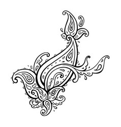 exotic paisley ethnic ornament hand drawn boho vector image