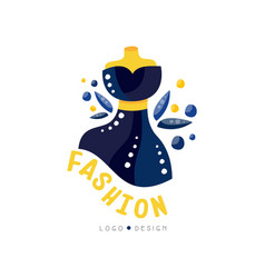 Fashion logo design fashion clothes shop vector