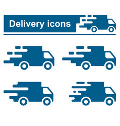 fast delivery icon set vector image