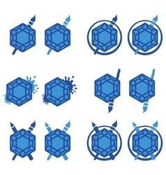 Flat Sapphire vector image