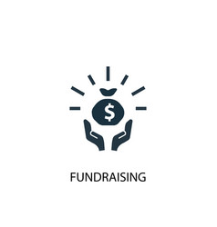 Fundraising icon simple element vector