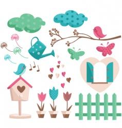 Garden drawings vector