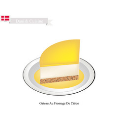 Gateau au fromage de citron a popular dessert vector