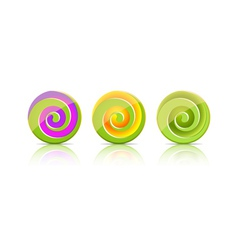 Green candies Lollipop set vector