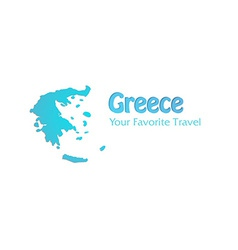High Detailed Map of Greece vector