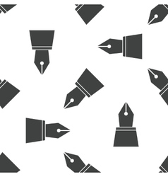 Ink pen nib pattern vector