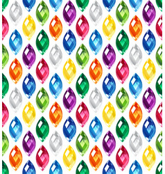 jewel seamless pattern - edge stones hidden under vector image vector image