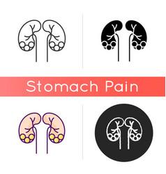 Kidney stone disease icon vector