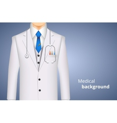 Lab white coat medical background vector