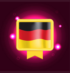 Made in germany banner flag color label vector