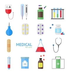 Medical Healthcare Equipment Icon Set vector image