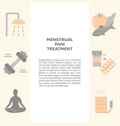 menstruation pain treatment concept banner in flat vector image