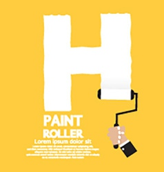 Paint Roller Alphabet H vector