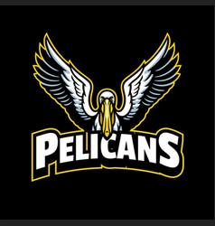 Pelican mascot sport logo style vector