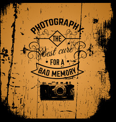Quote typographical background about photography vector
