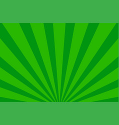 rays background green retro vector image