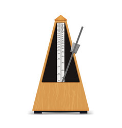 realistic detailed 3d classic mechanical metronome vector image