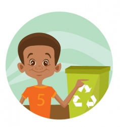 recycle boy vector image