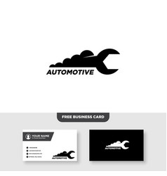 Repair car logo with wrench symbol and business vector